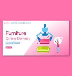 furniture online delivery landing page vector image