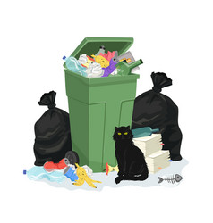 Garbage stack vector