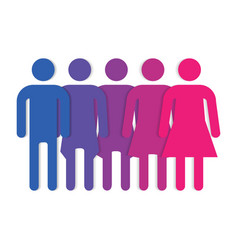 gender symbol line vector image