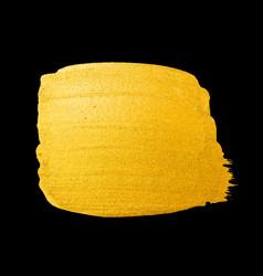 golden brush stroke for you amazing design vector image