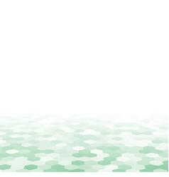 Green random of hexagon mosaic tiles background vector