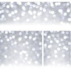 grey shiny bokeh backgrounds vector image