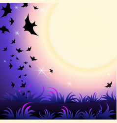 halloween party background vector image