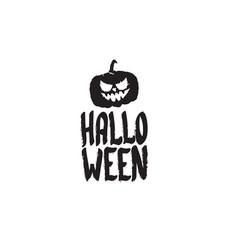 happy halloween text banner or label vector image