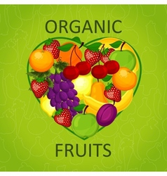 I love organic food an vector