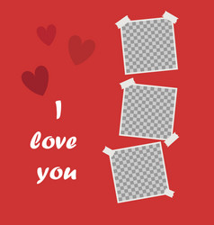 i love you cute poster with space for your text vector image
