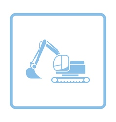 Icon of construction excavator vector