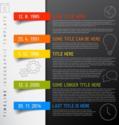 Infographic timeline report template with icons vector