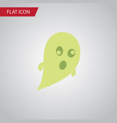 isolated ghost flat icon phantom element vector image
