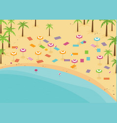 isometric beach with swimming places flat vector image