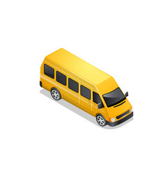 isometric car icon isolated on white vector image