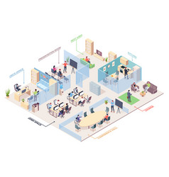 isometric office design business center plan vector image