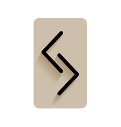 Jera runic alphabet and letters flat icon on vector