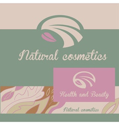 logo natural cosmetics Banner and badge The color vector image