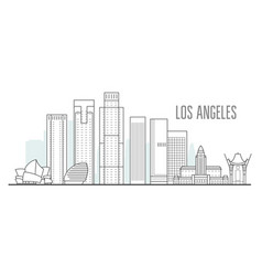 los angeles city skyline - downtown cityscape vector image
