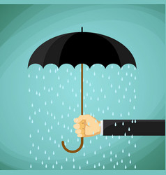 man holds in his hand an umbrella vector image