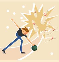 Man throwing a ball vector