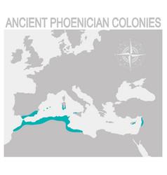 Map ancient phoenician colonies vector