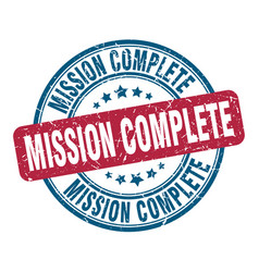Mission complete stamp mission complete round vector