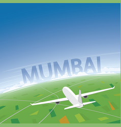 Mumbai flight destination vector