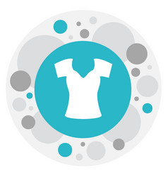 Of trade symbol on woman top vector