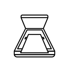 Open scanner icon outline style vector