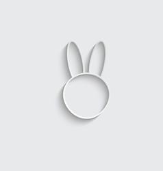 Paper rabit icon easter symbol vector