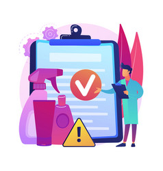 Product safety control abstract concept vector