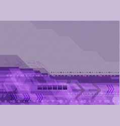 purple abstract geometric for digital technology vector image