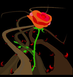 Rose thorns and briers vector