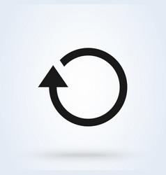 rotation arrow simple modern icon design vector image