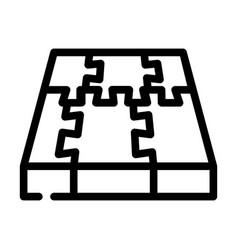 Rubber cover floor line icon vector
