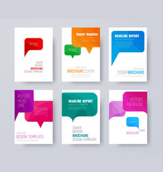 Set a4 covers with multi-colored bubbles vector