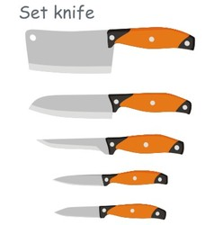 set knife vector image
