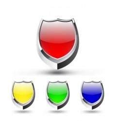 shield emblem set vector image
