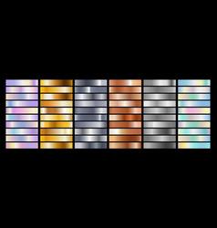 shine iridescent metal textures vector image