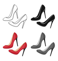 shoes with stiletto heel icon in cartoon style vector image