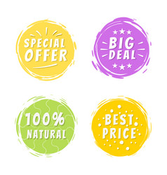 Special offer inscription on yellow painted spot vector