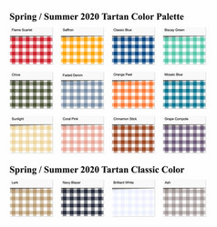Spring summer 2020 tartan seamless pattern vector