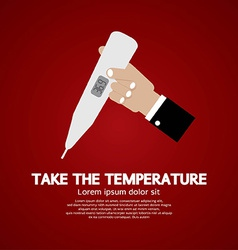 Take The Temperature vector image