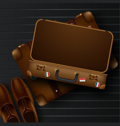 top view on travel and tourism concept template vector image