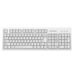 white pc keyboard keyboard is very useful vector image