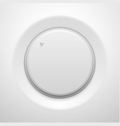 white technology music knob button vector image