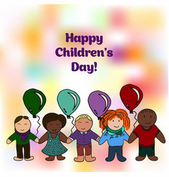 world childrens day picture for your design card vector image