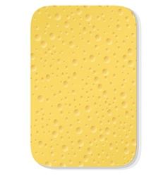 Yellow washing sponge vector