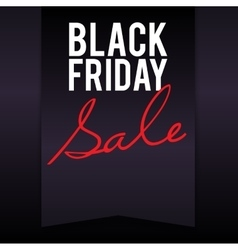Black friday sale banner with pennant vector