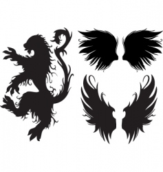 gothic beast and wings vector image vector image
