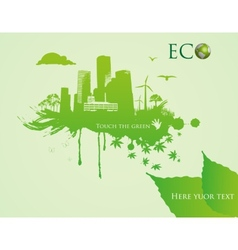 green eco town - abstract ecology town vector image