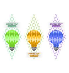 lightbulb logo creativity and idea vector image vector image