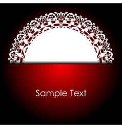 red background with white napkin vector image vector image